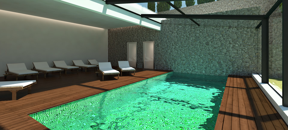 piscinas de interior piscina enterrada de acero inoxidable para centro de bienestar de exterior. Black Bedroom Furniture Sets. Home Design Ideas